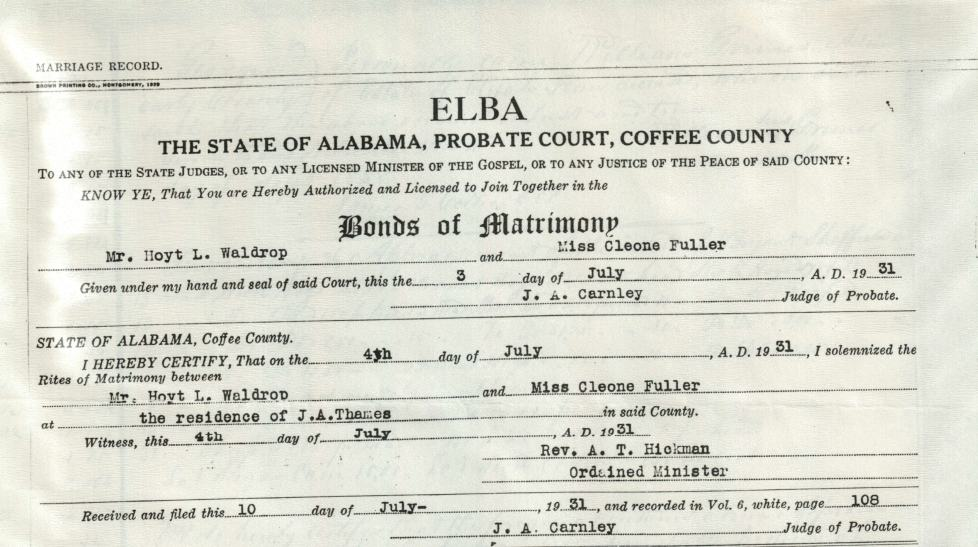 Alabama Usgenweb Archives Coffee County Vital Records