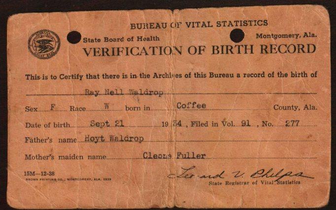 Alabama USGenWeb Archives - Coffee County Vital Records