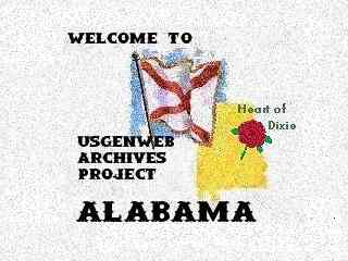Welcome To The ALGenWeb Archives Graphic