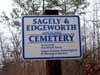 Sagely-Edgeworth Cemetery Sign
