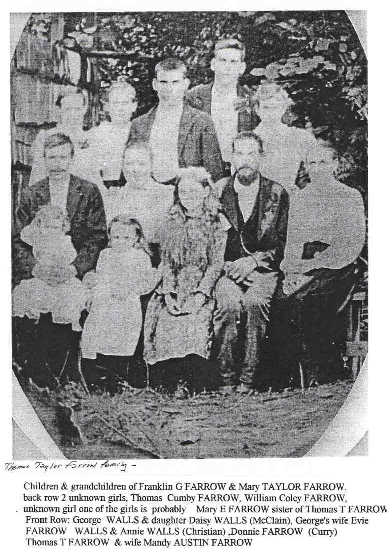 Alabama tallapoosa county - Farrow Franklin George Mary Tyler Family