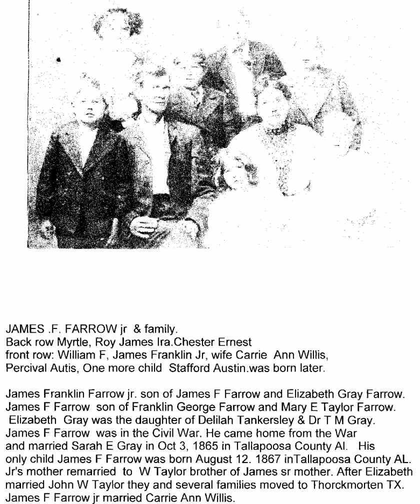 Alabama tallapoosa county - Farrow James F Jr Family