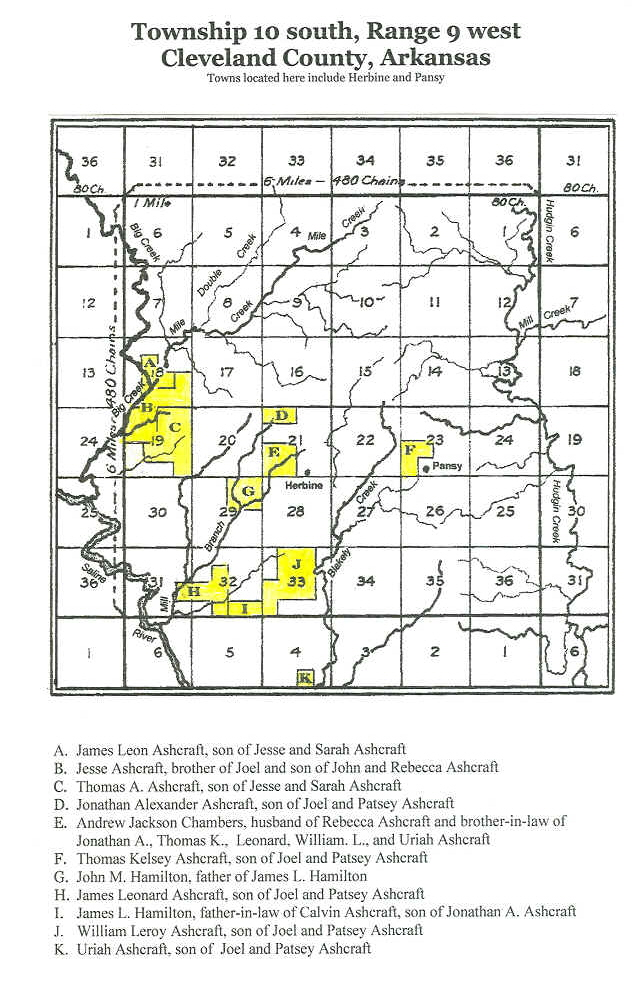 The Ashcraft Pioneers - Arkansas land ownership maps