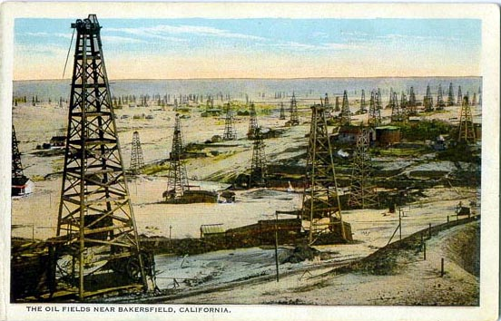 Types Of Oil For Cars >> Penny Postcards from Kern County, California