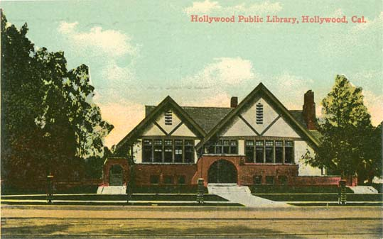 Penny postcards from hollywood los angeles county ca for La county public library