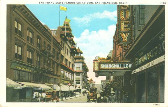 postcards from chinatown 1920s san francisco chinatown grant street,shanghai low~rppc real photo postcard - $795 c1920s san francisco chinatown district with shanghai low club & restaurant c1920s antique glossy b/w gelatin silver real photo rppc postcard no postmark, stamp or markings on rear see additional scan of rear provided.