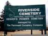 Riverside Cemetey Sign