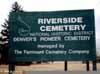 Riverside Cemetey Sign