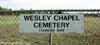 Wesley Chapel Cemetery Sign