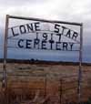 Lone Star Cemetery Sign
