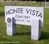 Monte Vista Cemetery Sign