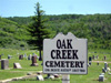 Oak Creek Cemetery Sign
