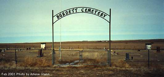 Burdett Cemetery Sign