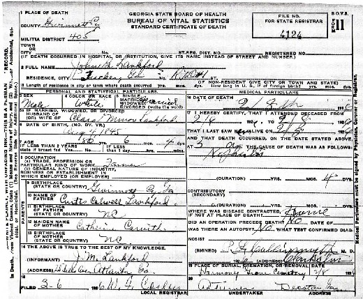 gwinnett county ga death records