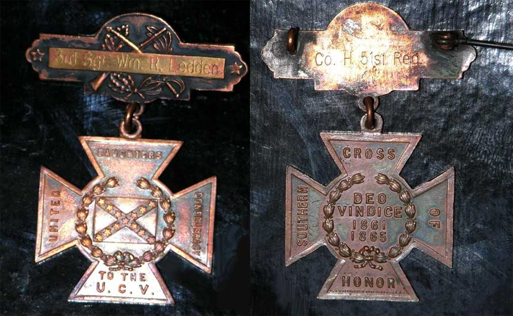 William R. Ledden's Southern Cross of Honor