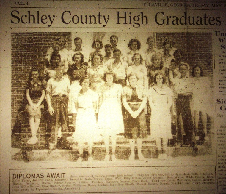 Schley County 1939 Schley County High Class