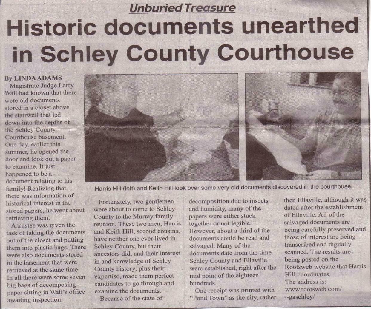 Schley County Schley County Unburied