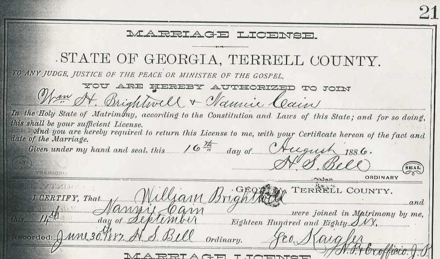 marriage records wilcox county ga