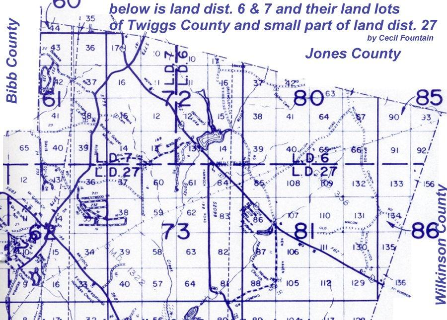 Map Of Georgia District 6.Twiggs Land Lot Map