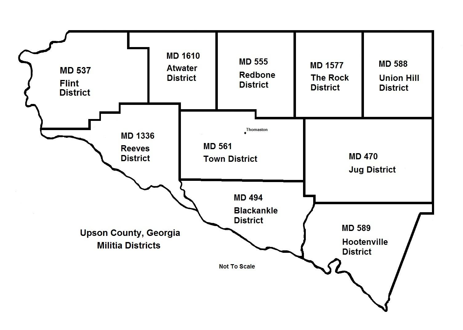 Map Of Georgia Militia Districts.Upson County Georgia Usgenweb Archives
