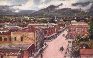 Postcard of a Vintage View of Honolulu