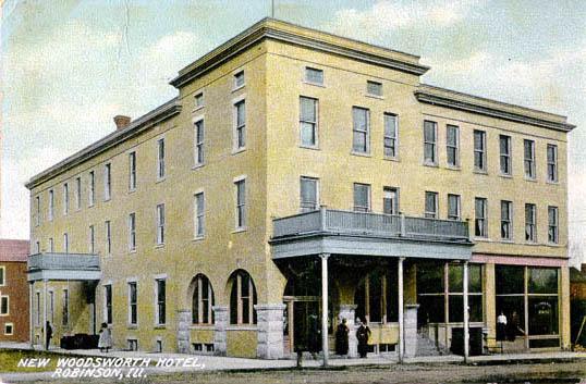 New Woodsworth Sic Hotel Robinson 1908