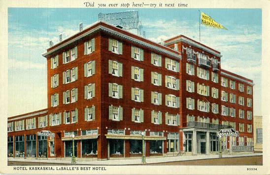 Vintage Postcard Kaskaskia Hotel Lasalle Il Pinterest Postcards