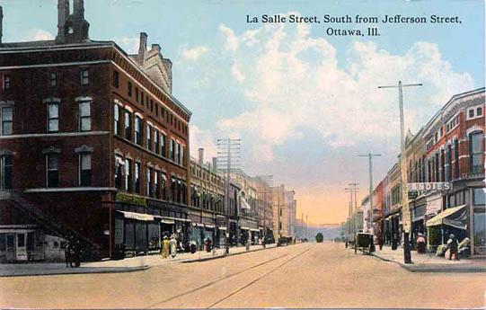 La Salle Street South From Jefferson