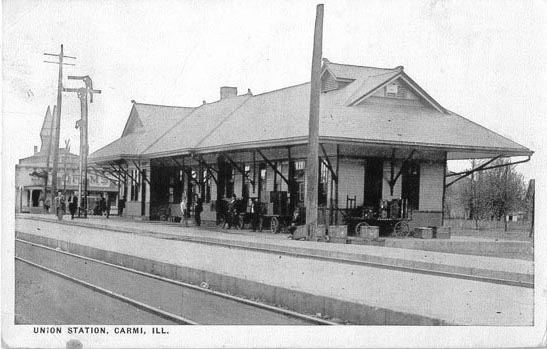 Carmi Union Depot, Penny Postcards USGenWeb