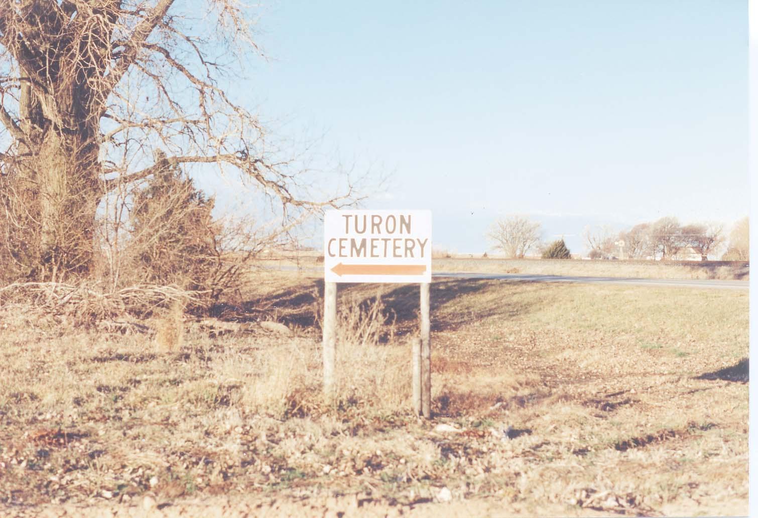 Kansas reno county turon - Turon Cemetery Reno County Cemetery Sign February 5 1995