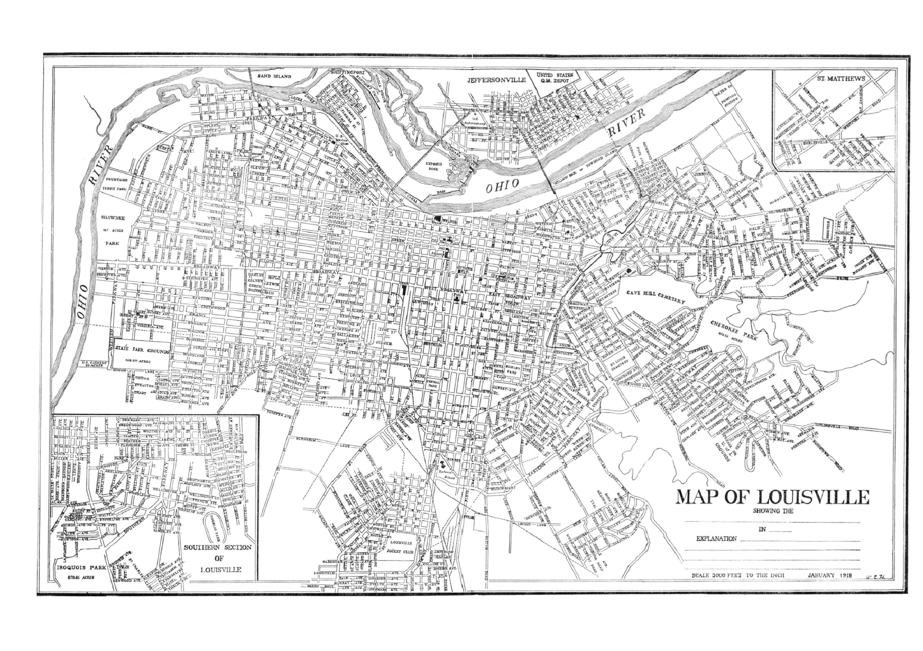 Kentucky USGenweb Archives Jefferson County - Louisville ky us map