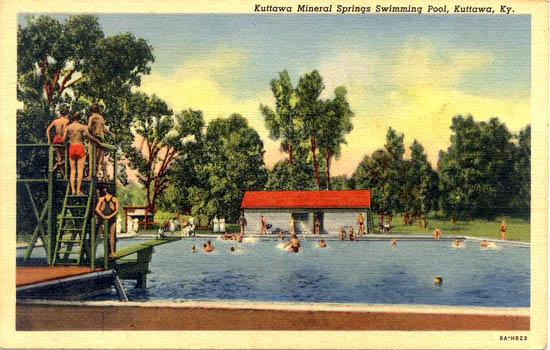 Penny postcards from kentucky for Laurel municipal swimming pool