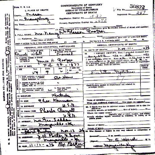 Mason County, Kentucky USGenWeb Free Genealogy Archive
