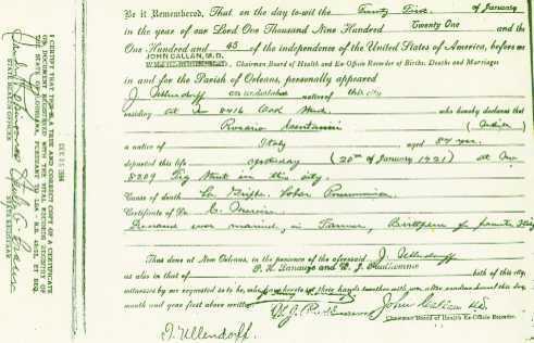 death certificates orleans parish