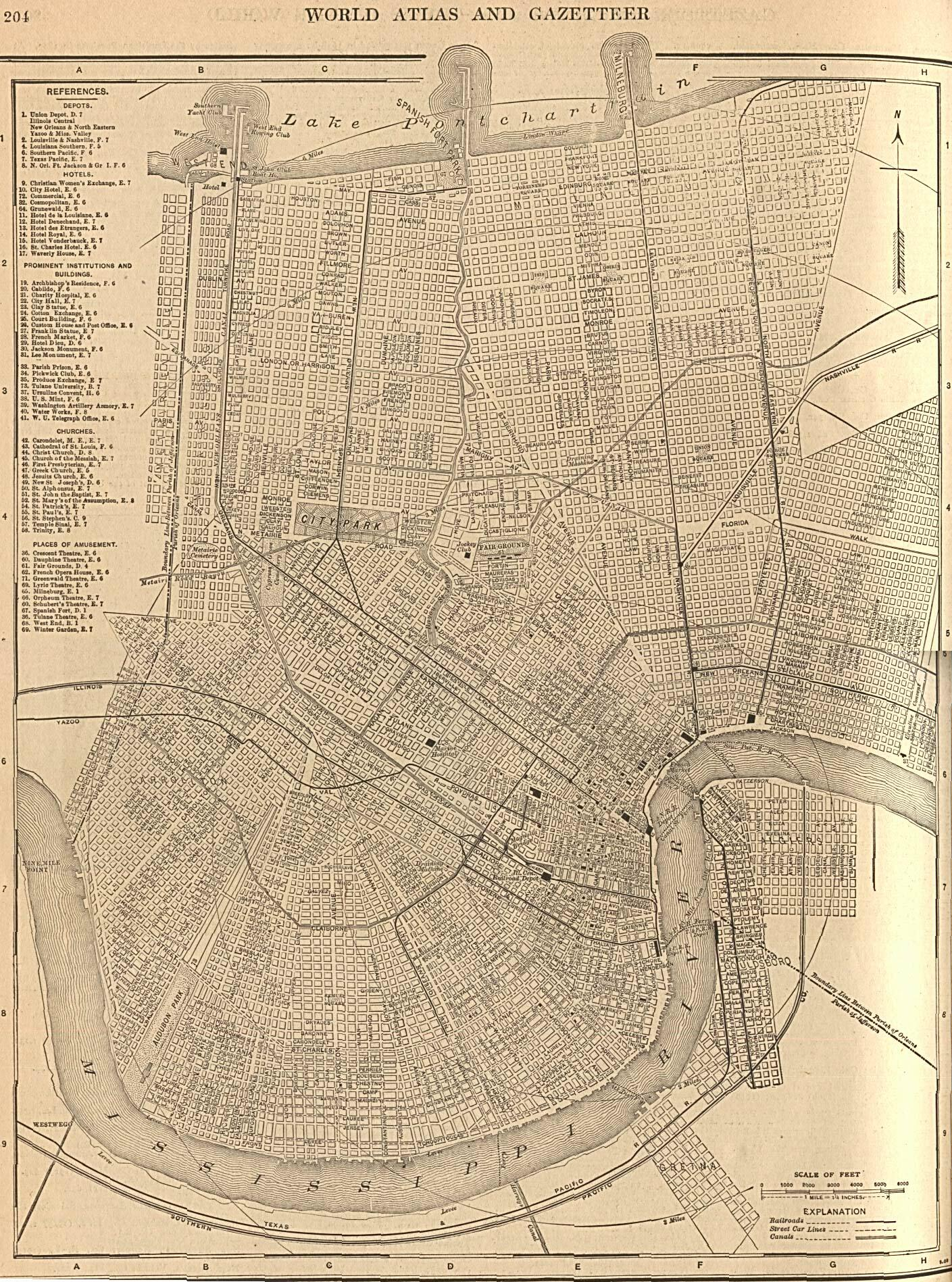Maps Orleans Parish Archives LAGENWEB USGENWEB