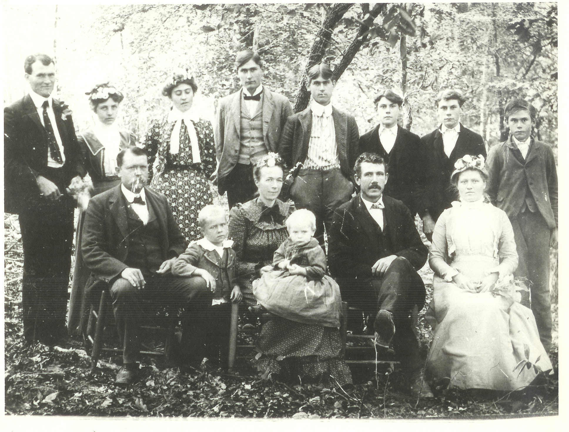 Photograph of the Family of Elder Woody K. Smith Spearsville, Union Parish  Louisiana Christmas Eve 1902
