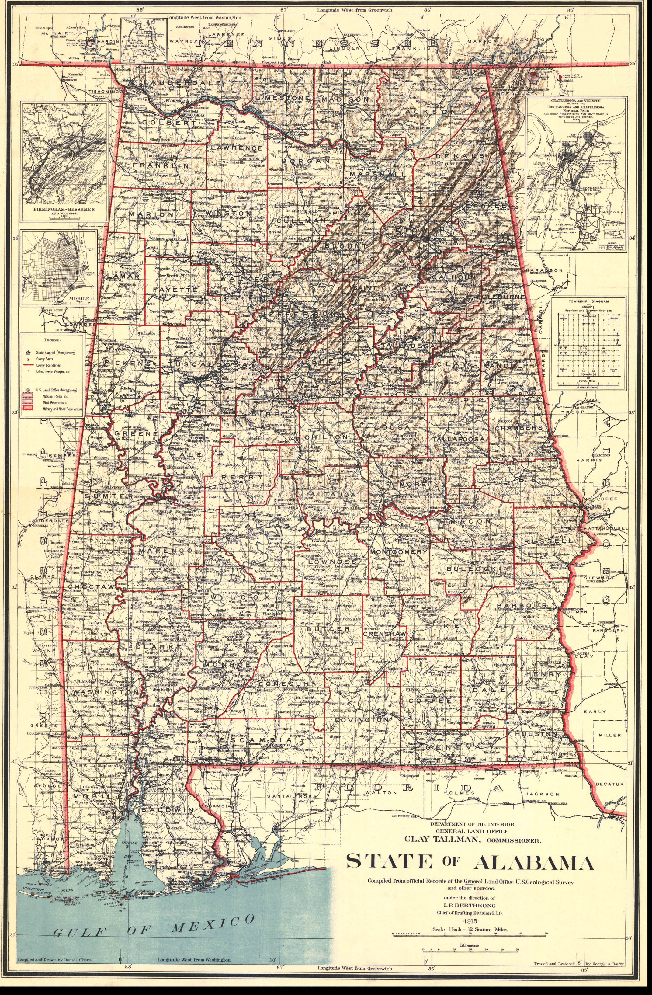 Alabama Maps Alabama Digital Map Library Table Of Contents United States Digital Map Library