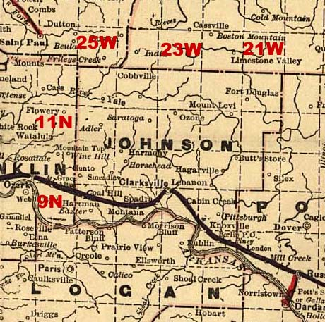 Johnson County Arkansas Genealogy Census Vital Records - Counties in arkansas map