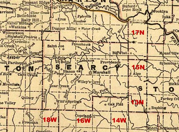Searcy County, Arkansas: Maps and Gazetteers