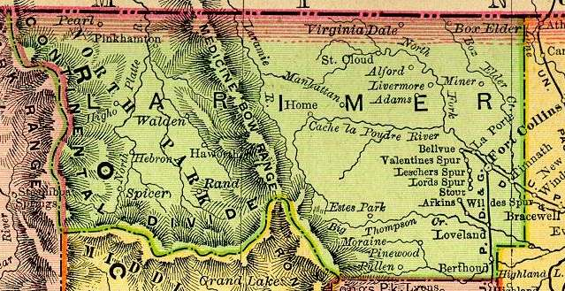 Colorado Maps Us Digital Map Library Table Of Contents Page