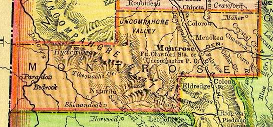 Montrose County Colorado Maps And Gazetteers
