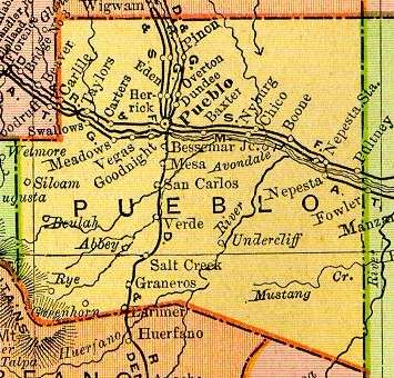 Pueblo County Colorado Maps And Gazetteers