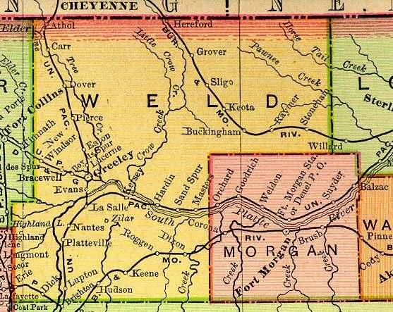 Morgan County Colorado Maps And Gazetteers