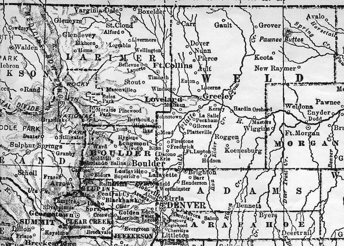 Colorado Maps US Digital Map Library Eastern Colorado 1905 Page