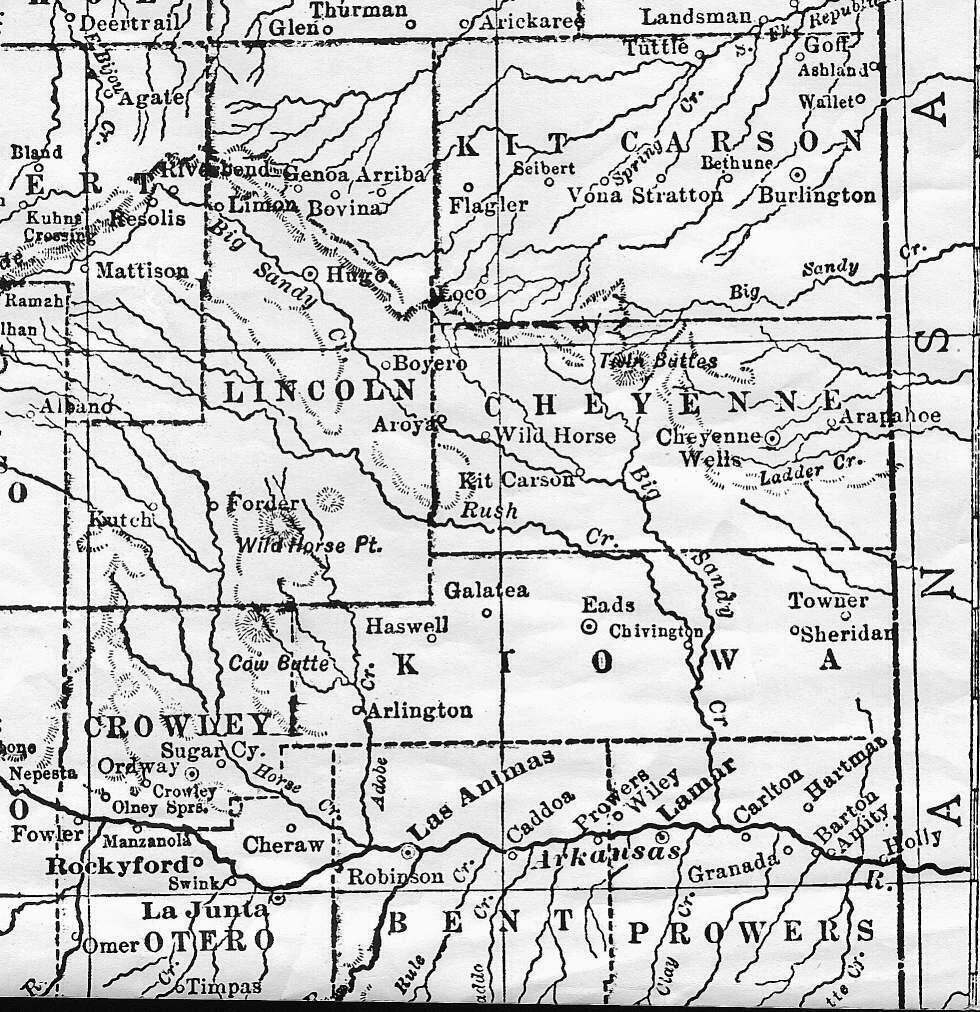 Colorado Maps US Digital Map Library Eastern Colorado Page - Black and white map of us