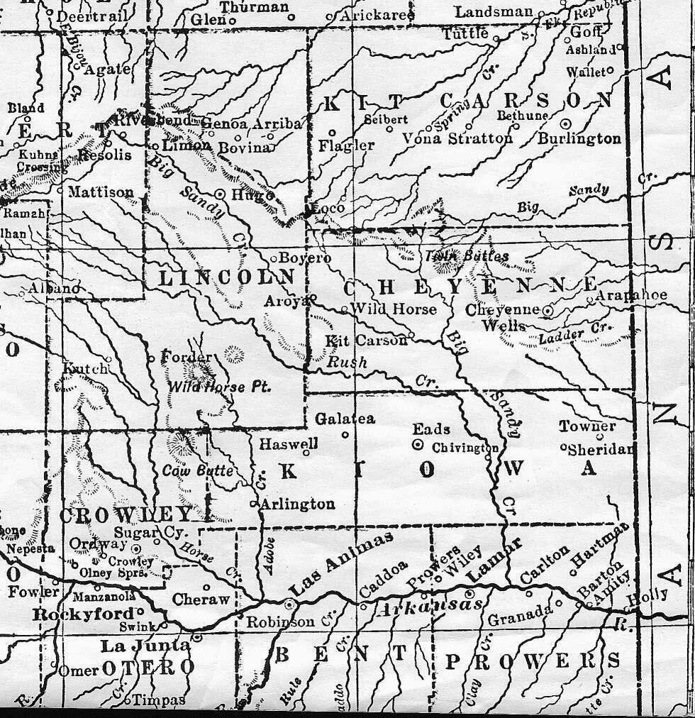 Colorado Maps US Digital Map Library Eastern Colorado 1905 Page