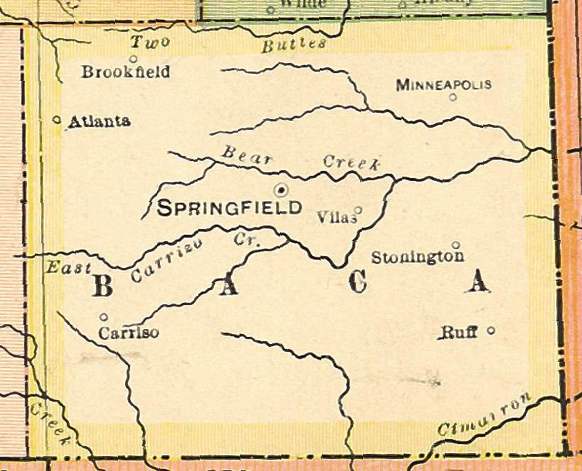 Springfield Colorado Map.Colorado Maps Us Digital Map Library Colorado Atlas 1920 Page