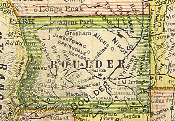 Colorado Maps US Digital Map Library Colorado Atlas Page - Boulder colorado on a map of us