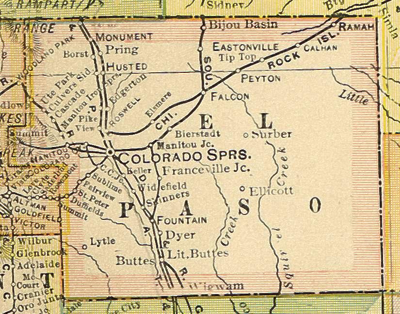 El Paso County Colorado Maps And Gazetteers - County maps of colorado
