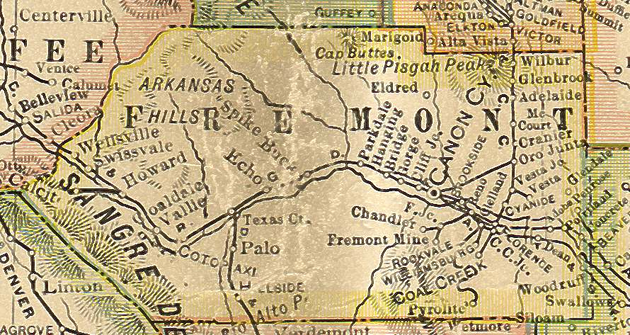 Fremont County Colorado Maps And Gazetteers